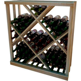 Diamond Bin Wine Rack - 3 ft high - Unstained Redwood