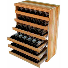 Bulk Storage, Pull Out Wine Bottle Cradle, 6-Drawer 3 Ft high - Unstained Redwood