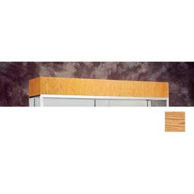 "Cornice/Light Fixture 48""W For Reliant Display Case - Light Oak Vinyl"