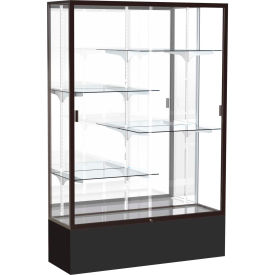 "Spirit Display Case Black Base, Bronze Frame, Mirror Back 48""W x 16""D x 72""H"
