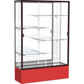 "Spirit Display Case Red Base, Bronze Frame, Mirror Back 48""W x 16""D x 72""H"