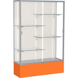 Spirit Display Case Orange Base, Satin Frame, Fabric Back 48