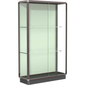 "Prominence Display Case Dark Bronze Frameame, Fabric Back 48""W x 18""D x 78""H"