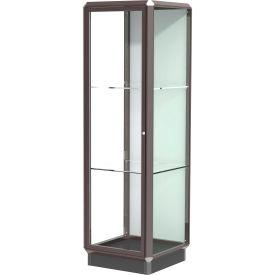 Prominence Display Case Dark Bronze Frameame, Fabric Back, Hinged Door