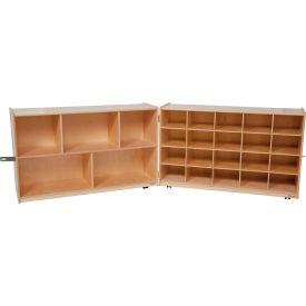 Half and Half Folding Storage without Trays