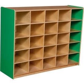 School Furniture Preschool Cubbies Green Apple 25 Tray