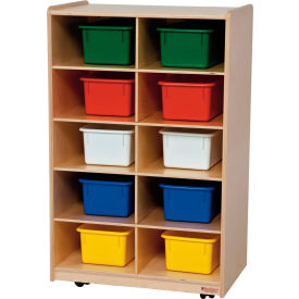 Vertical Storage with Ten Assorted Trays