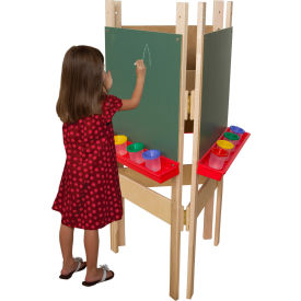 Wood Designs Three-Way Adjustable Easel with Chalkboard by