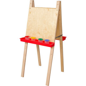 Wood Designs™ Double Adjustable Easel with Plywood