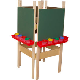 Wood Designs Four Sided Easel with Chalkboard by