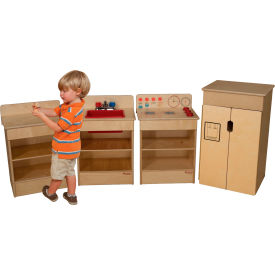 Wood Designs™ Four Tot Appliances with Standard Hutch
