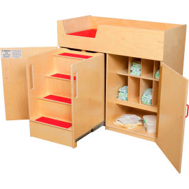 Wood Designs™ Deluxe Changing Table with Safety Steps