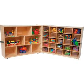 Tray and Shelf Fold Storage with 25 Clear Trays