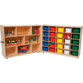 Tray and Shelf Folding Storage with 25 Assorted Trays