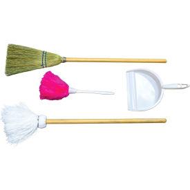 Wood Designs™ Housekeeping Station - Broom, Mop, Duster, Dust Pan