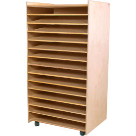 Wood Designs™ Puzzle and Paper Storage Center