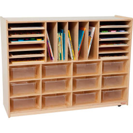 Storage with Twelve Clear Rectangular Trays