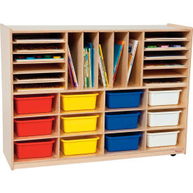 Storage with Twelve Assorted Rectangular Trays