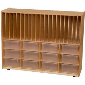 Tip-Me-Not Portfolio Storage with Twelve Clear Trays
