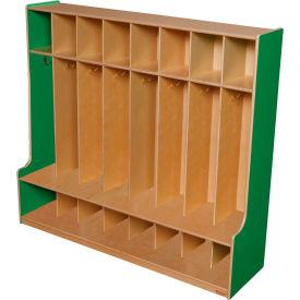 Green Apple Eight Section Seat Locker