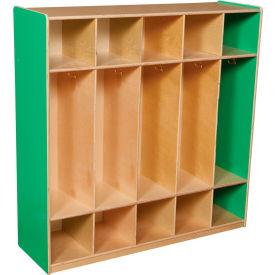 Green Apple Five Section Locker
