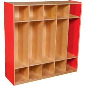 Strawberry Red Five Section Locker
