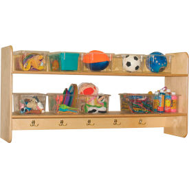 Wall Locker and Storage with Ten Clear Trays