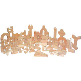 Wood Designs™ Kindergarten Blocks - 24 Shapes, 183 Pieces