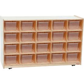 Twenty Tray / Shelves Island with Twenty Clear Trays