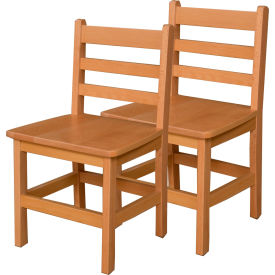 """Wood Designs™ 15"""" Seat Height Hardwood Chair, Carton of Two"""