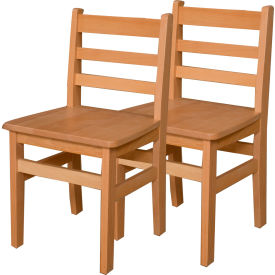 """Wood Designs™ 16"""" Seat Height Hardwood Chair, Carton of Two"""