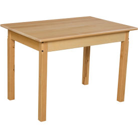 "Wood Designs™ 24"" x 36"" Rectangle Table with 22"" Legs"