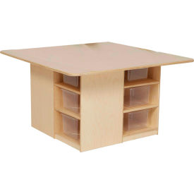 Wood Designs™ Cubby Table with Twelve Clear Trays