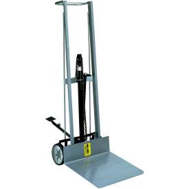 Wesco® Aluminum Foot Pedal Platform Lift Truck 260005 2 Wheel Style 400 Lb.
