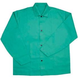 """Ironcat 30"""" Irontex® Flame Retardant Cotton Jacket, Green, XL, All Cotton"""