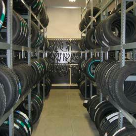 Truck Tire Rack Single Entry 2 Tier