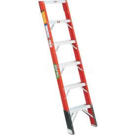 Green Bull Series 2012 Fiberglass Shelf Ladder - 6' 201206