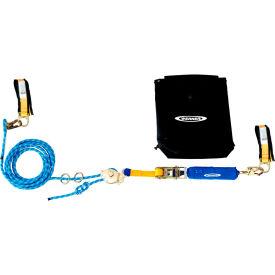 Werner L102100 2 Man Rope HLL System, Cross Arm Strap & Ratchet Tensioner, 100'L by