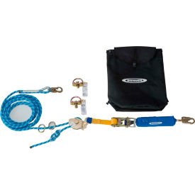 Werner® L122100 2 Man Rope HLL System, D Bolt Anchor & Ratchet Tensioner, 100'L