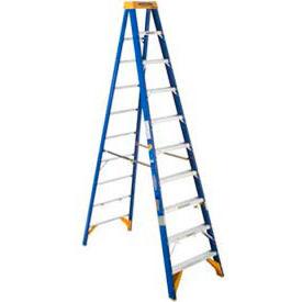 Werner 10' Type 1AA Fiberglass Electricians JobStation Ladder 375 lb. Cap - OBEL10