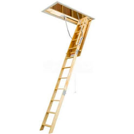 "Werner 10' Ceiling Wood Attic Ladder - 25""W x 54""L W2510"