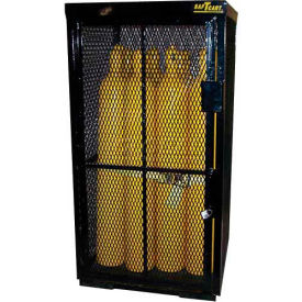 """16 Cylinder Capacity, Security Cage on Pallet Bottom, 42""""W x 39""""D x 74""""H"""