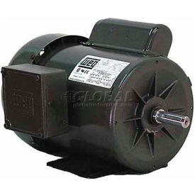 WEG Fractional Single Phase Motor, 00118ES1BD56, 1HP, 1800RPM, 115/208-230V, D56, TEFC