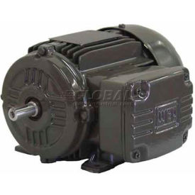 WEG IEC TRU-METRIC™ IE2 Motor, .7518EP3WAL80, 1HP, 1800/1500RPM, 3PH, 460V, 80, TEFC