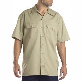 Dickies® Men's Short Sleeve Work Shirt, 3T Desert Sand - 1574DS
