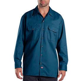 Dickies® Men's Long Sleeve Work Shirt, XL Navy - 574NV