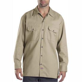 Dickies® Men's Long Sleeve Work Shirt, S Khaki - 574KH