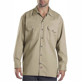 Dickies® Men's Long Sleeve Work Shirt, M Khaki - 574KH