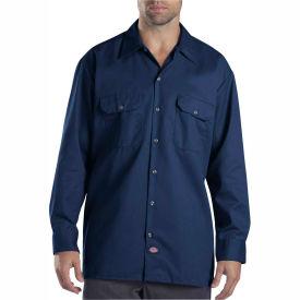 Dickies® Men's Long Sleeve Work Shirt, 3T Dark Navy - 574DN