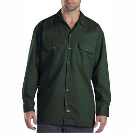 Dickies® Men's Long Sleeve Work Shirt, M Hunter Green - 574GH